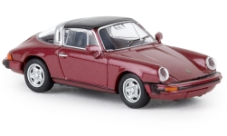 Modelcar - <strong>Porsche</strong> 911 G Targa, metallic-dark red, TD, 1976<br /><br />Brekina, 1:87<br />No. 238641