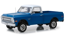 Modellauto - <strong>Chevrolet</strong> C-10 Pick Up, blauw/wit, met Lift Uitrusting, 1970<br /><br />Highway 61, 1:18<br />Nr. 238757