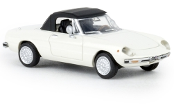 Modelcar - <strong>Alfa Romeo</strong> Spider, white, closed, TD, 1969<br /><br />Brekina, 1:87<br />No. 238862