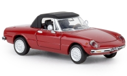 Modelcar - <strong>Alfa Romeo</strong> Spider, red, closed, TD, 1969<br /><br />Brekina, 1:87<br />No. 238864