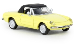 Modelcar - <strong>Alfa Romeo</strong> Spider, light yellow, closed, TD, 1969<br /><br />Brekina, 1:87<br />No. 238865