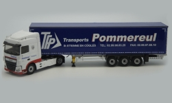 Modelcar - <strong>DAF</strong> XF Euro6 Space Cab, Pommereul, curtain side-trailer truck<br /><br />Eligor, 1:43<br />No. 238868
