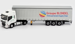 Modelcar - <strong>Iveco</strong> Stralis NP, Groupe Blondel, curtain side-trailer truck<br /><br />Eligor, 1:43<br />No. 238872