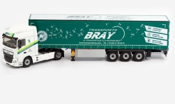 Modelcar - <strong>DAF</strong> XF MY Space Cab, Bray, curtain side-trailer truck, 2017<br /><br />Eligor, 1:43<br />No. 238873
