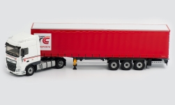 Modelcar - <strong>DAF</strong> XF Euro6 Space Cab, TC Transports, curtain side-trailer truck<br /><br />Eligor, 1:43<br />No. 238876