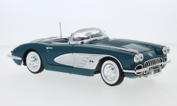 Modelcar - <strong>Chevrolet</strong> Corvette C1 dunkeltürkis/silver, 1958<br /><br />Motormax, 1:18<br />No. 239074