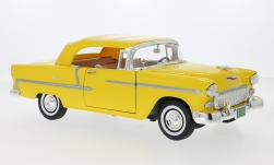 Modellauto - <strong>Chevrolet</strong> Bel Air Convertible, gelb, 1955<br /><br />Motormax, 1:18<br />Nr. 239075