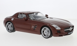 Modellauto - <strong>Mercedes</strong> SLS AMG (C197), metallic-braun<br /><br />Motormax, 1:18<br />Nr. 239078