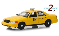 ModelCar - <strong>Ford</strong> Crown Victoria Taxi, John Wick, 2008<br /><br />Greenlight, 1:43<br />No. 239102