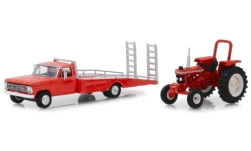 Modelcar - <strong>Ford</strong> F 350, red, Ramp Truc + Ford 5610 tractor, 1969<br /><br />Greenlight, 1:64<br />No. 239128