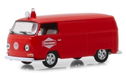 Modellauto - <strong>VW</strong> Typ 2, rot, Firestone, 1969<br /><br />Greenlight, 1:64<br />Nr. 239137