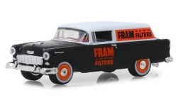 Modelcar - <strong>Chevrolet</strong> 150, white/black, Fram, 1955<br /><br />Greenlight, 1:64<br />No. 239140