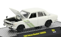 Modelcar - <strong>Datsun</strong> Bluebird 1600SSS, white/Decorated, RHD, 1969<br /><br />M2 Machines, 1:64<br />No. 239163