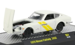 Modellino - <strong>Nissan</strong> fairlady Z432, bianco/decor, RHD, 1970<br /><br />M2 Machines, 1:64<br />n. 239164