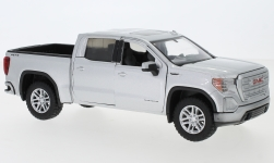 Modelcar - <strong>GMC</strong>  Sierra 1500 SLT Crew Cab, silver, scale ca. 1:27, 2019<br /><br />Motormax, 1:24<br />No. 239214
