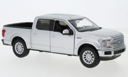 Modellauto - <strong>Ford</strong> Ford F-150 Limited Crew Cab, silber, Maßstab ca. 1:27, 2019<br /><br />Motormax, 1:24<br />Nr. 239220