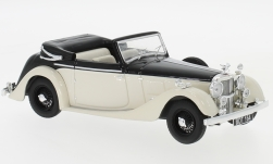 Modellauto - <strong>Alvis</strong> 4.3 Litre Drophead Convertible, schwarz/hellbeige, RHD, 1938<br /><br />IXO, 1:43<br />Nr. 239243