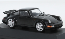 Modellauto - <strong>Porsche</strong> 911 (964) Turbo, zwart, Porsche 911 Collection, 1990<br /><br />SpecialC.-111, 1:43<br />Nr. 239300