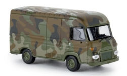 Modelcar - <strong>Saviem</strong> SG2 box wagon, military, 1965<br /><br />Brekina, 1:87<br />No. 239312