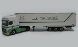 Modelcar - <strong>DAF</strong> XF 480 MY Superspacecab, Gauthier (F), refrigerated container-trailer truck<br /><br />Eligor, 1:43<br />No. 239317