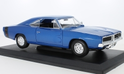Modelcar - <strong>Dodge</strong> Charger R/T, metallic-blue, 1969<br /><br />Maisto, 1:18<br />No. 239321