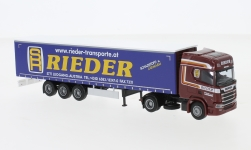 Modellauto - <strong>Scania</strong> R / Aerop., Rieder, G-KSZ<br /><br />AWM, 1:87<br />Nr. 239366