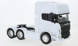 Modelcar - <strong>Scania</strong> R730 V8 (6x4), white<br /><br />Welly, 1:32<br />No. 239376