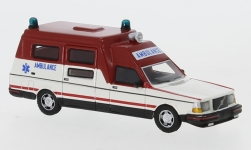 Modelcar - <strong>Volvo</strong> 265 Ambulance, white/red, 1985<br /><br />BoS-Models, 1:87<br />No. 239389