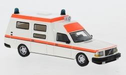 voiture miniature - <strong>Volvo</strong> 265 Ambulance, blanche/Orange clair, DDR, 1985<br /><br />BoS-Models, 1:87<br />N° 239390