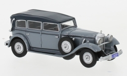 Modelcar - <strong>Mercedes</strong> 770 (W07) Closed Convertible, grey, RHD, 1930<br /><br />BoS-Models, 1:87<br />No. 239393