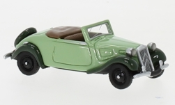 Modelcar - <strong>Citroen</strong> traction Avant Convertible, light green/dark green, 1936<br /><br />BoS-Models, 1:87<br />No. 239398