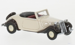Modelcar - <strong>Citroen</strong> traction Avant Convertible, light beige/dunkelbraun, 1936<br /><br />BoS-Models, 1:87<br />No. 239400