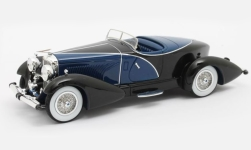Modellauto - <strong>Duesenberg</strong> J SWB French True Speedster by Figoni, blau/schwarz, #J-153-2178, 1931<br /><br />Matrix, 1:43<br />Nr. 239460