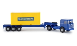 Modellauto - <strong>Büssing</strong> 20ft Boxcontainer-SZ, Trans Europa, 1964<br /><br />Brekina, 1:87<br />Nr. 239480