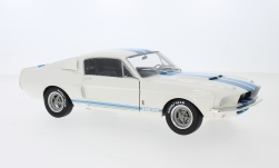 Modelcar - <strong>Ford</strong> Shelby Mustang GT 500, white/blue, 1967<br /><br />Solido, 1:18<br />No. 239507