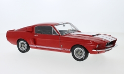 Modelcar - <strong>Ford</strong> Shelby Mustang GT500, red/white, 1967<br /><br />Solido, 1:18<br />No. 239646