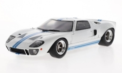 Modelcar - <strong>Ford</strong> GT40 MK I, white/blue, 1968<br /><br />Solido, 1:18<br />No. 239647