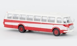 Modellauto - <strong>JZS Jelcz</strong> 043 Bus, weiss/rot, 1960<br /><br />Brekina Starline, 1:87<br />Nr. 239723