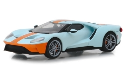 ModelCar - <strong>Ford</strong> GT Heritage Edition, hellblau/orange, 2019<br /><br />Greenlight, 1:43<br />No. 239887