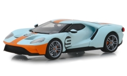 ModelCar - <strong>Ford</strong> GT Heritage Edition, hellblau/orange, No.9, 2019<br /><br />Greenlight, 1:43<br />No. 239888