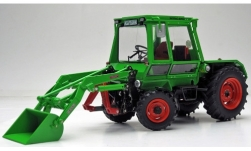 Modelcar - <strong>Deutz</strong> Intrac 2003 A, light green, with front loader, 1974<br /><br />weise-toys, 1:32<br />No. 240016