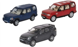ModelCar - <strong>Land Rover</strong> 3er-Set: Discovery, RHD, je 1x Series 3, Series 4 und Series 5<br /><br />Oxford, 1:76<br />No. 240112
