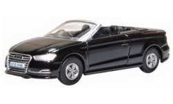 Modelcar - <strong>Audi</strong> S3 Convertible, black, RHD<br /><br />Oxford, 1:76<br />No. 240125