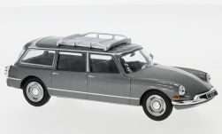 voiture miniature - <strong>Citroen</strong> ID 19 Break, metallic-gris, 1960<br /><br />IXO, 1:43<br />N° 240236