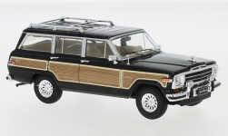 Modellauto - <strong>Jeep</strong> Groots Wagoneer zwart/Houtlook, 1989<br /><br />IXO, 1:43<br />Nr. 240238