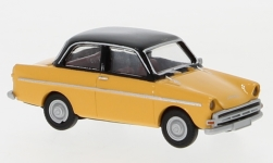 voiture miniature - <strong>DAF</strong> 750, jaune clair/noire, 1960<br /><br />Brekina, 1:87<br />N° 240279