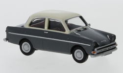 voiture miniature - <strong>DAF</strong> 750, dunkelgrau/beige clair, 1960<br /><br />Brekina, 1:87<br />N° 240284