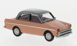 voiture miniature - <strong>DAF</strong> 750, rouge clair/dunkelgrau, 1960<br /><br />Brekina, 1:87<br />N° 240285