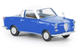 voiture miniature - <strong>Goggomobil</strong> Coupe, bleu/blanche<br /><br />Brekina, 1:87<br />N° 240287