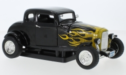 Modellauto - <strong>Ford</strong> Five Window Coupe, schwarz/Dekor, 1932<br /><br />Motormax, 1:18<br />Nr. 240363